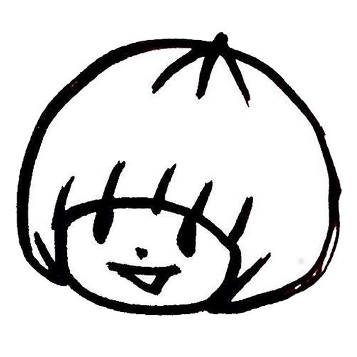 おかっぱミユキ公式サイトのファビコン画像。おかっぱミユキの似顔絵イラストがロゴマークになっている。